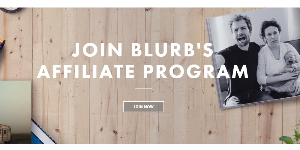 blurb affiliate sign up page