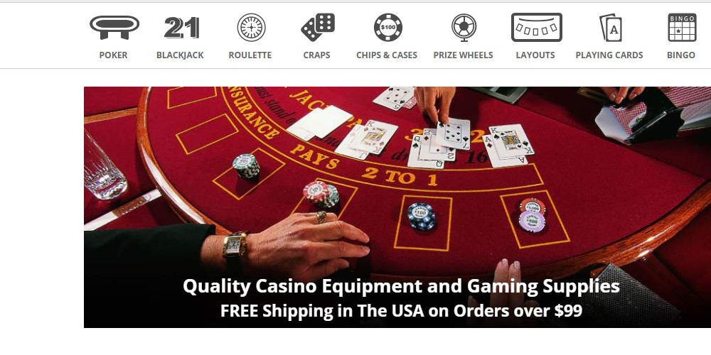 casino game supplies home page