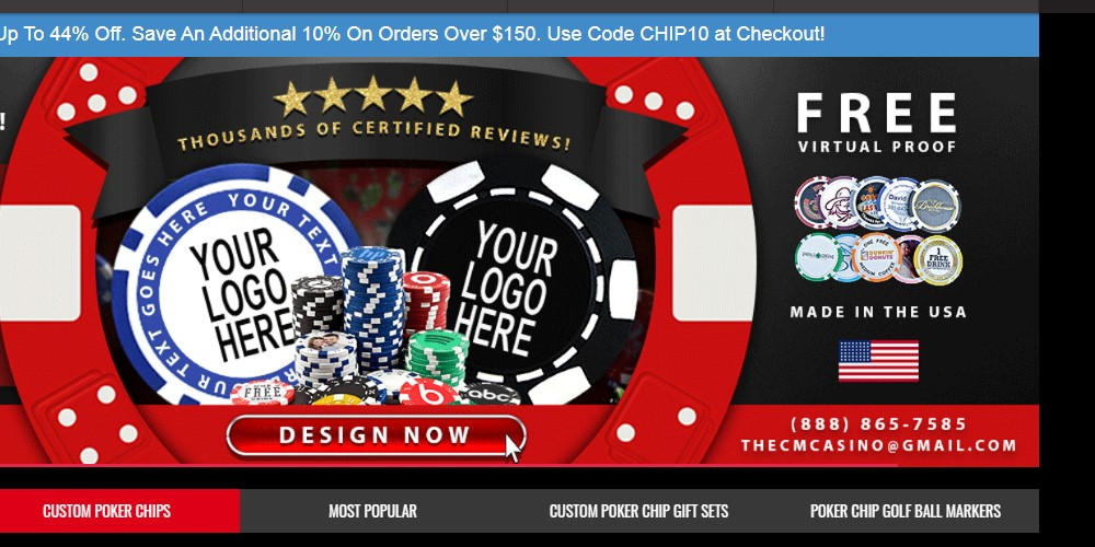 custom made casino home page