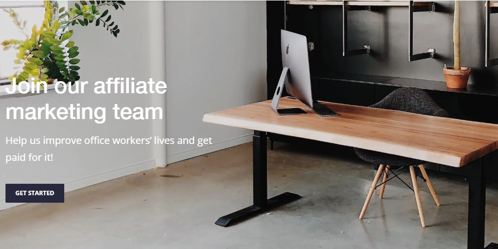 ergonofis affiliate sign up page