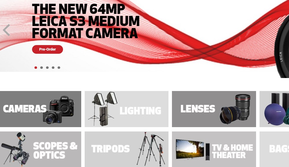 focus camera home page