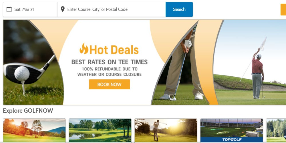 golf now home page
