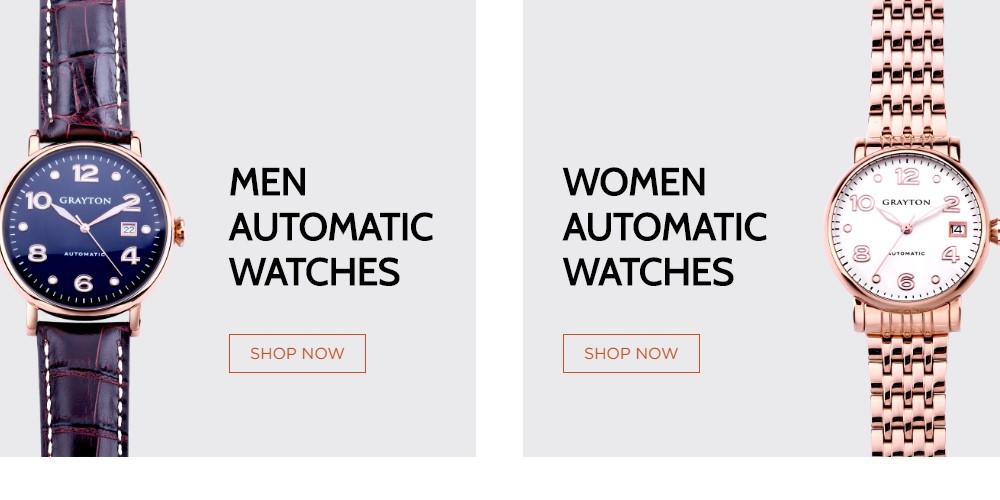 grayton automatic watches home page