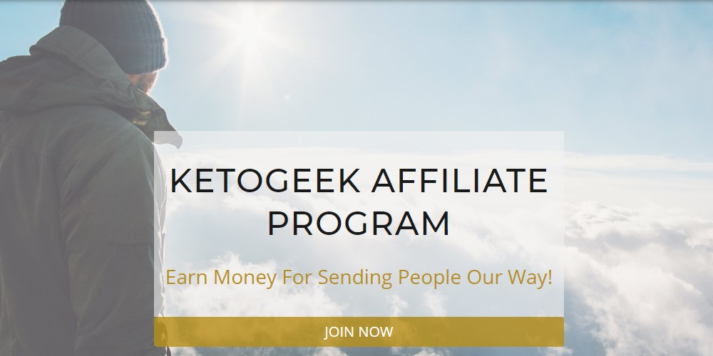 keto geek affiliate sign up page