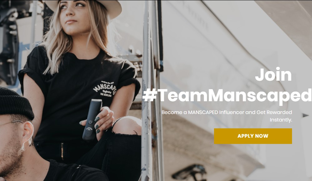 manscaped affiliate sign up page