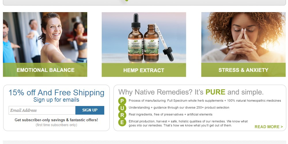 native remedies home page
