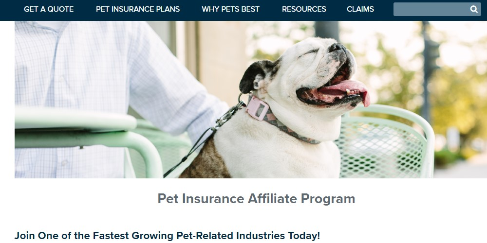 pets best affiliate sign up page