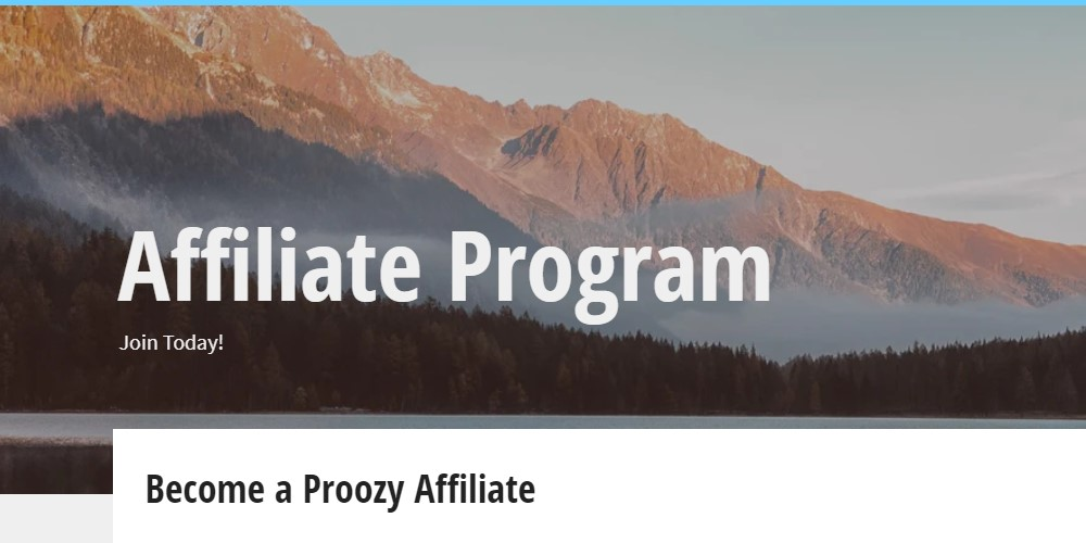 proozy affiliate program sign up page