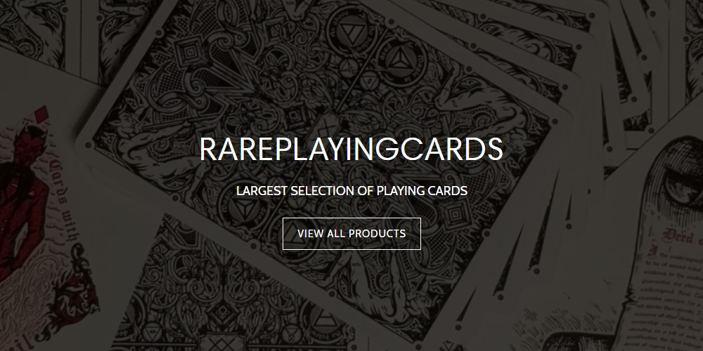 rare playing cards home page
