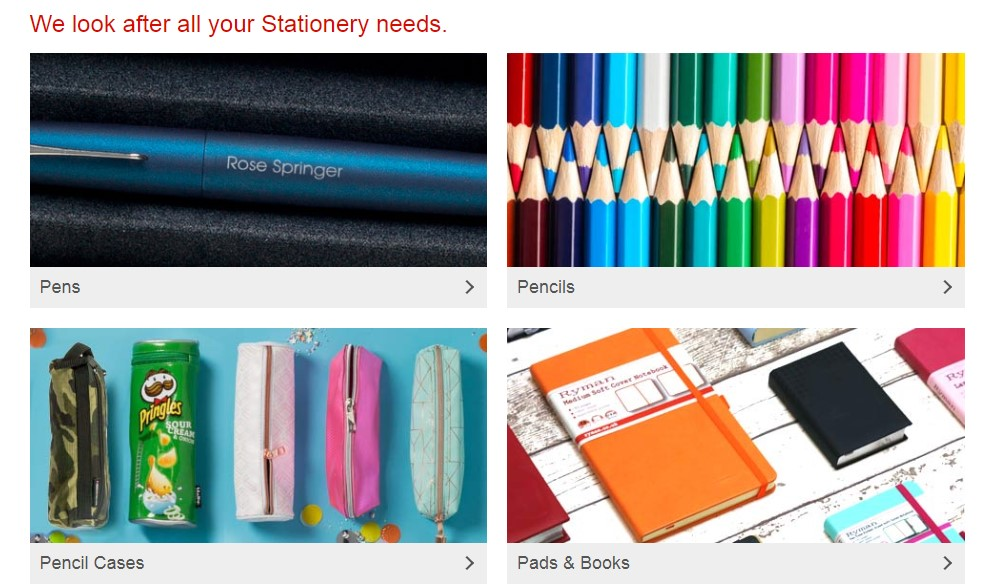 ryman stationery product page