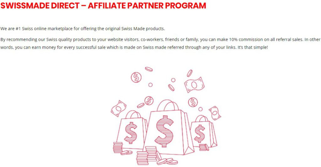 swiss made affiliate sign up page