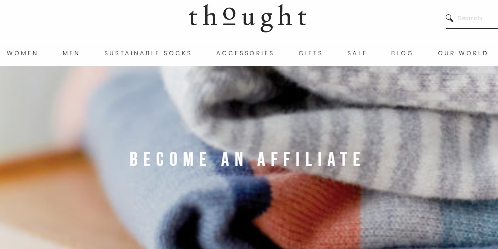 thought affiliate sign up page