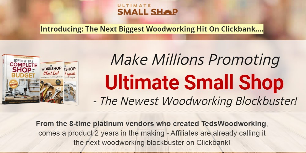 ultimate small shop affiliate sign up page