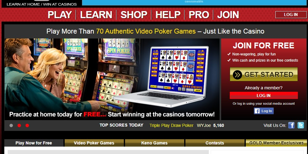 video poker home page