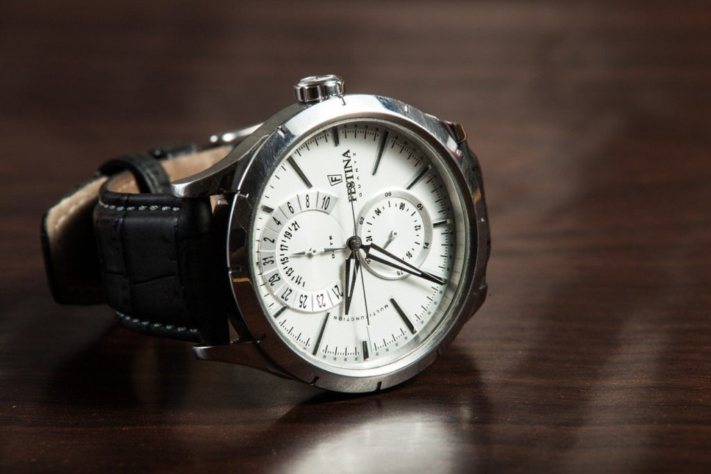 a watch sitting on a table to represent watch affiliate programs