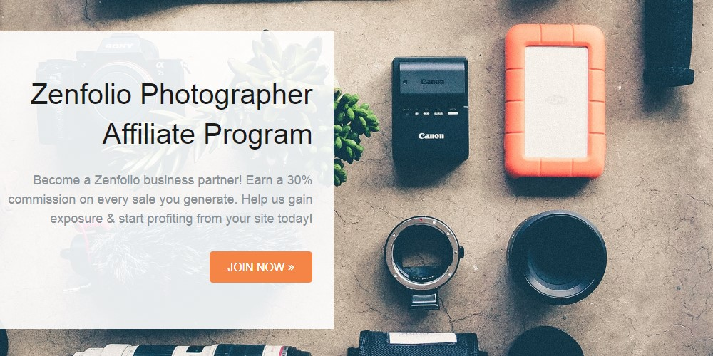 zenfolio affiliate sign up page