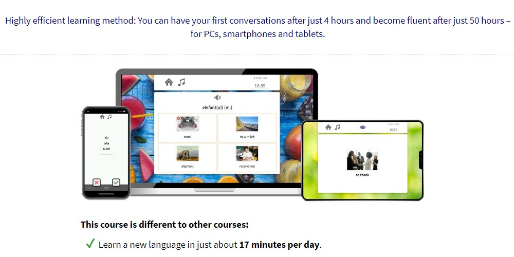 17 minute languages home page
