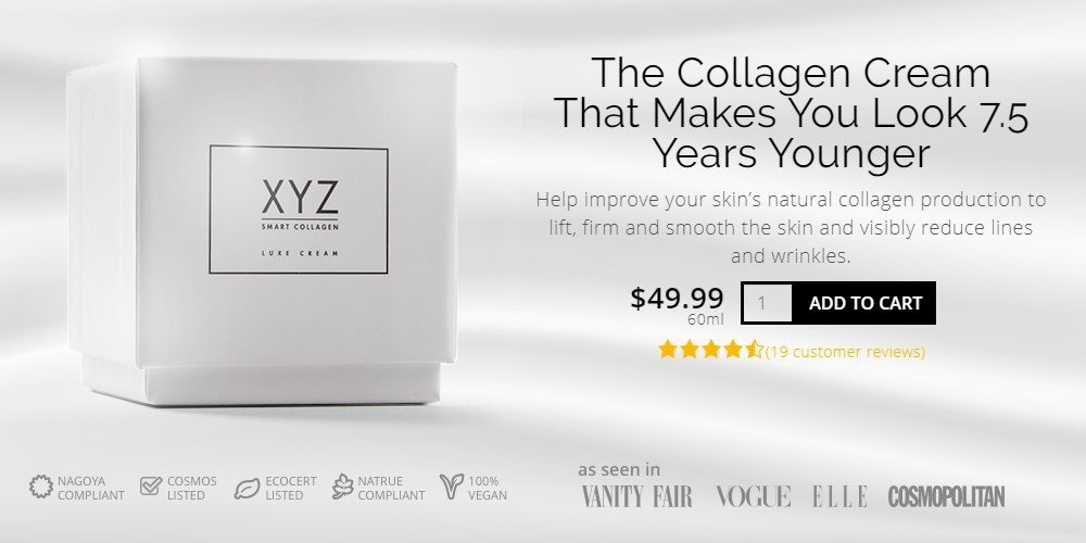 XYZ Collagen home page