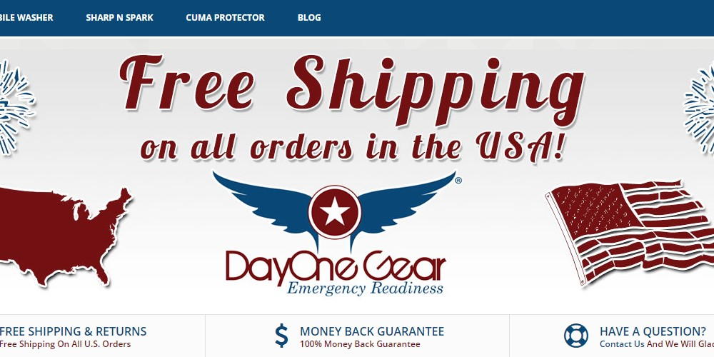 day one gear home page