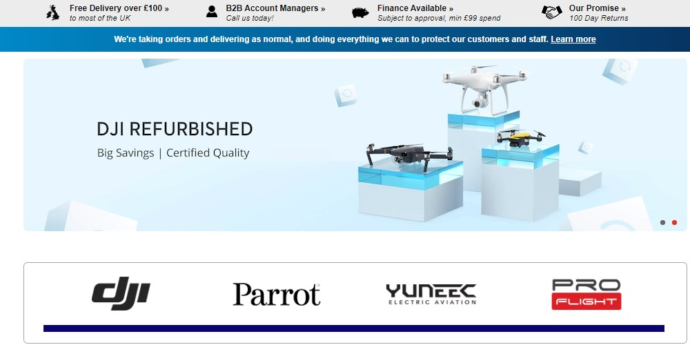 drones direct home page