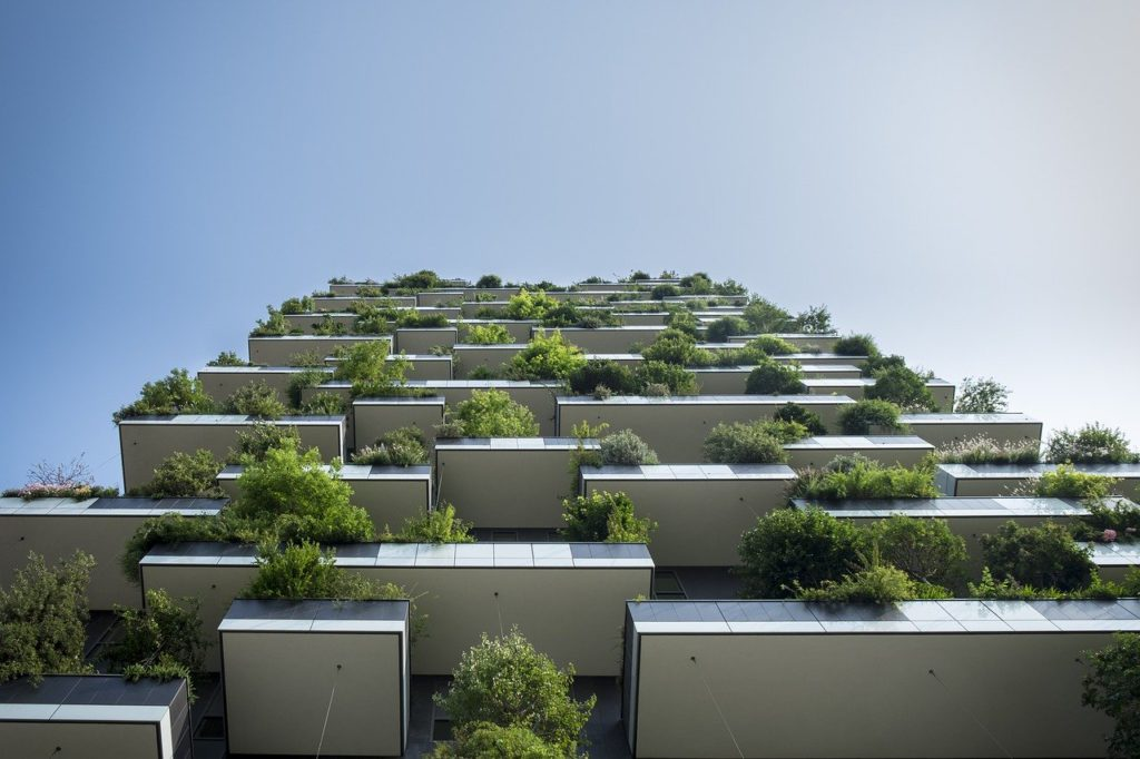 plants hanging from balconies to represent eco-friendly affiliate programs
