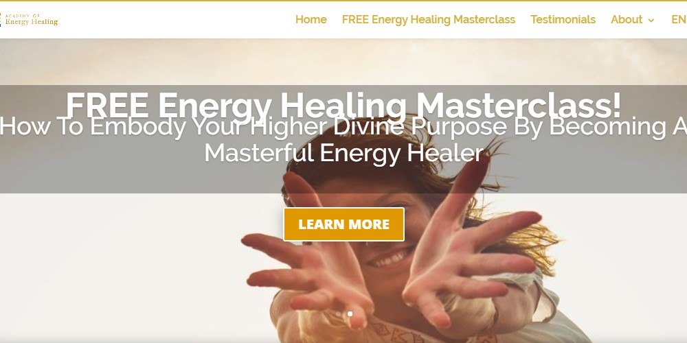 energy healing certification home page