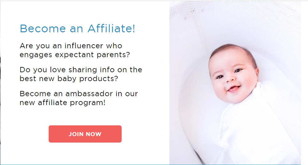 happiest baby affiliate sign up page
