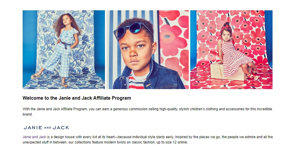 janie and jack affiliate sign up page