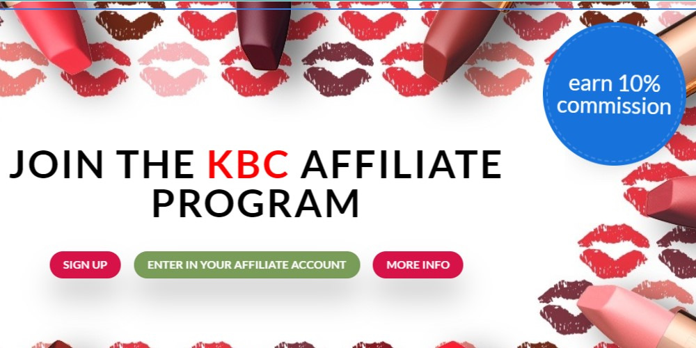korean beauty cosmetics affiliate sign up page