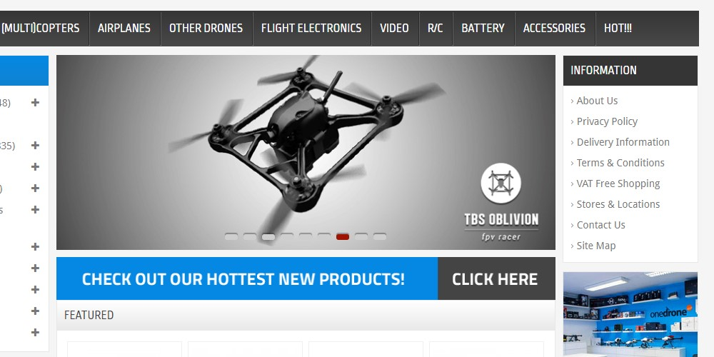 one drone home page