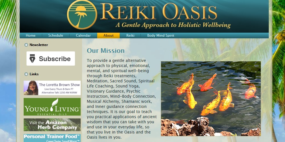 reiki oasis about page