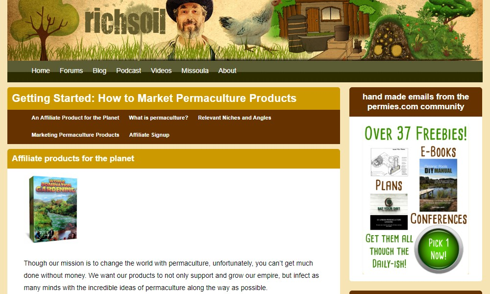 rich soil affiliate sign up page