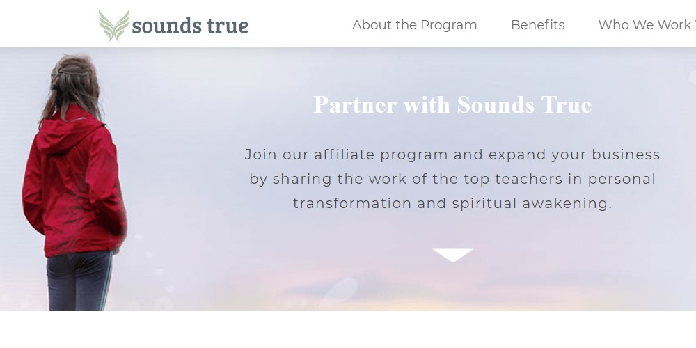 sounds true affiliate sign up page