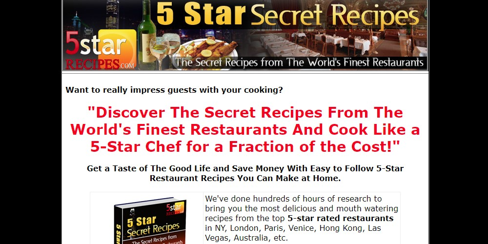 5 star recipes home page
