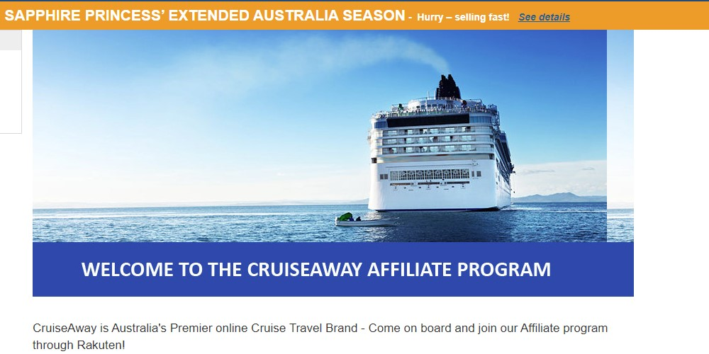 cruise away affiliate sign  up page
