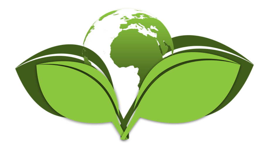 The image shows a green globe placed between two large leaves in green, representing the true global reach for natural products.