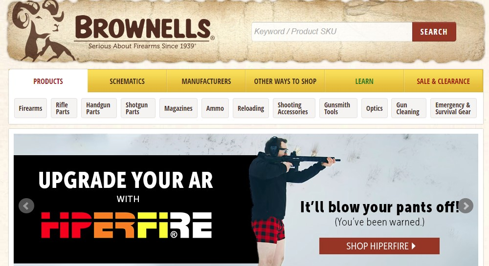 brownells home page