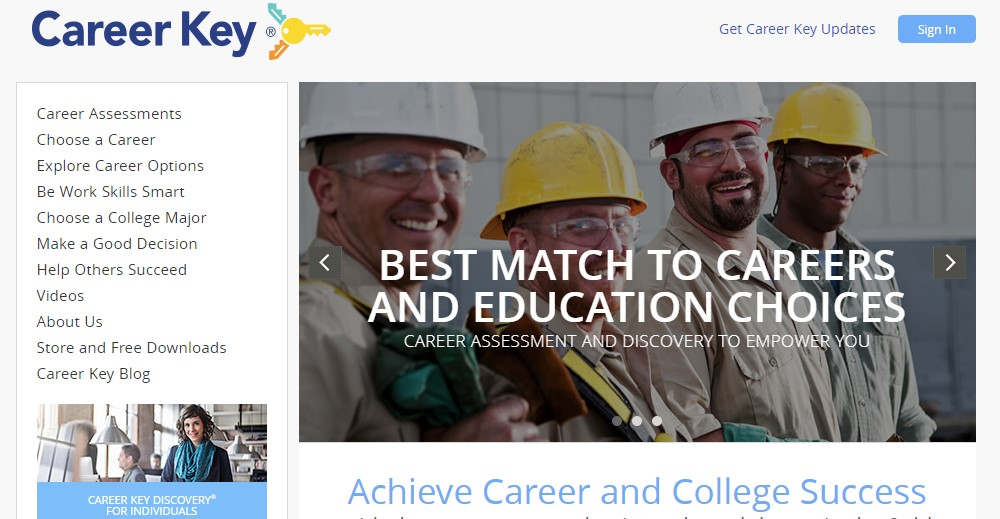 career key home page