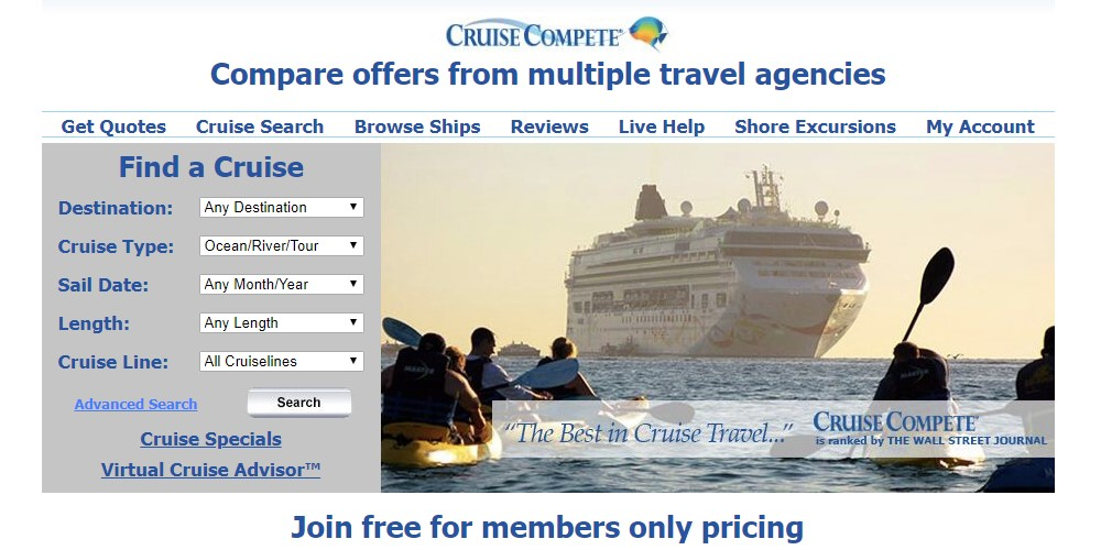 cruise compete home page