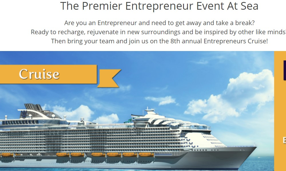 Entrepreneurs Cruise home page