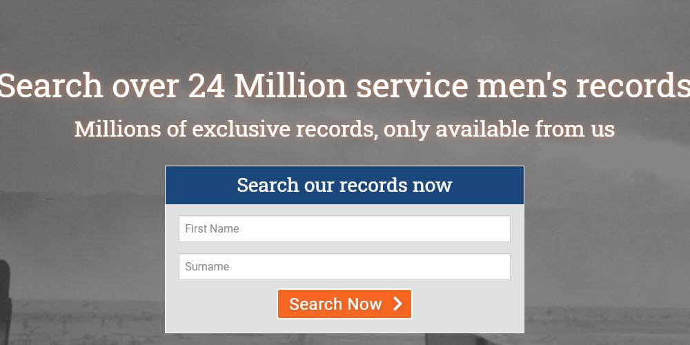 forces war records home page