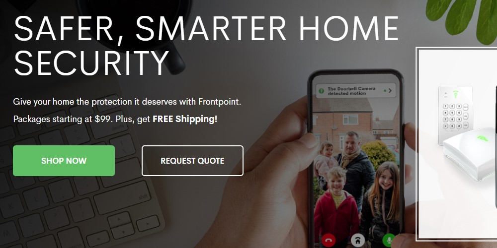 Front point security home page