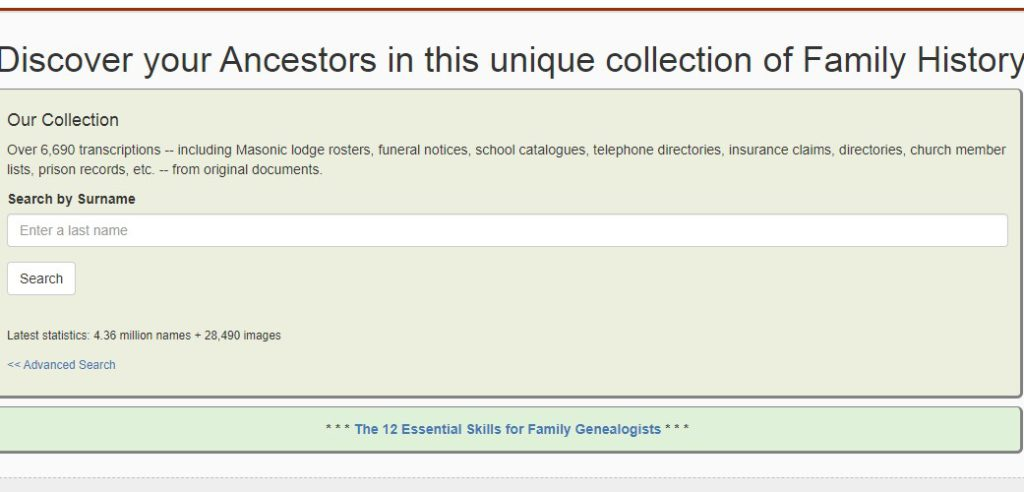 genealogy today home page