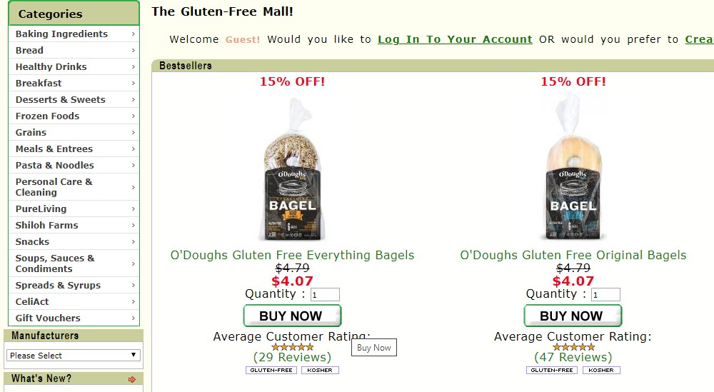 gluten free mall home page
