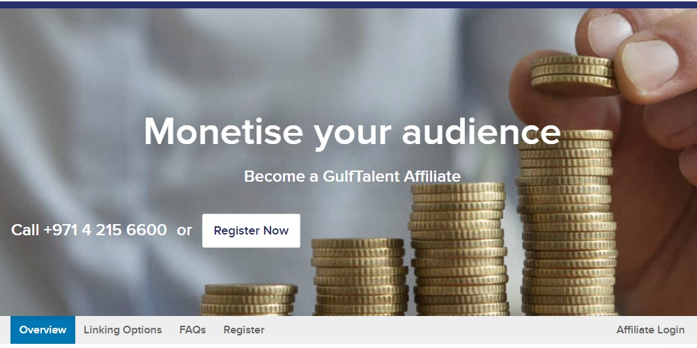 gulf talent affiliate sign up page