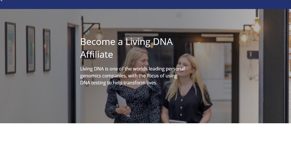 living dna affiliate sign up page