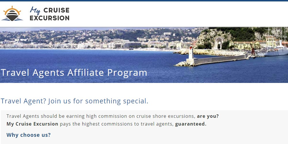 my cruise excursion affiliate sign up page