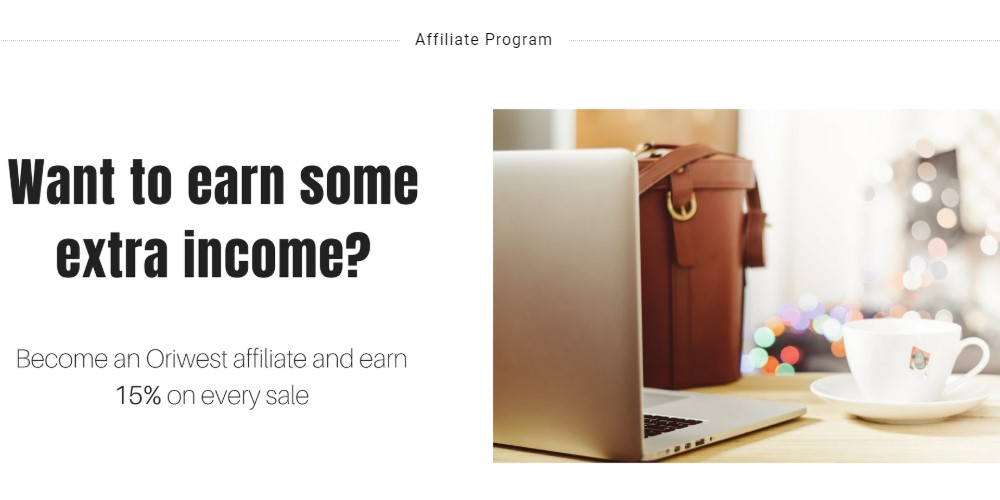 oriwest affiliate sign up page