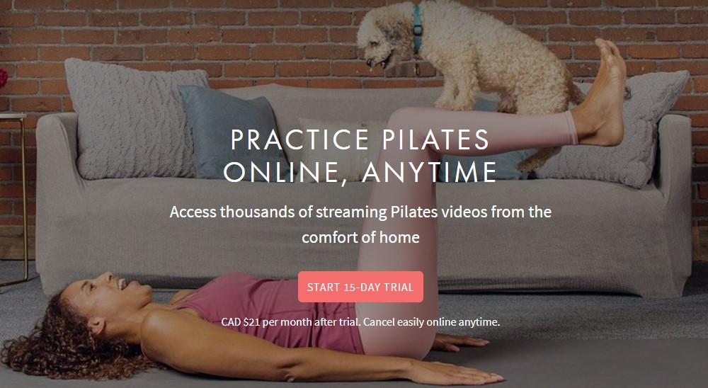 pilates anytime home page