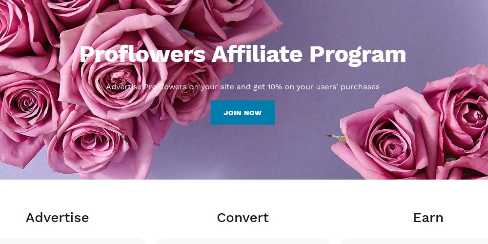 proflowers affiliate sign up page